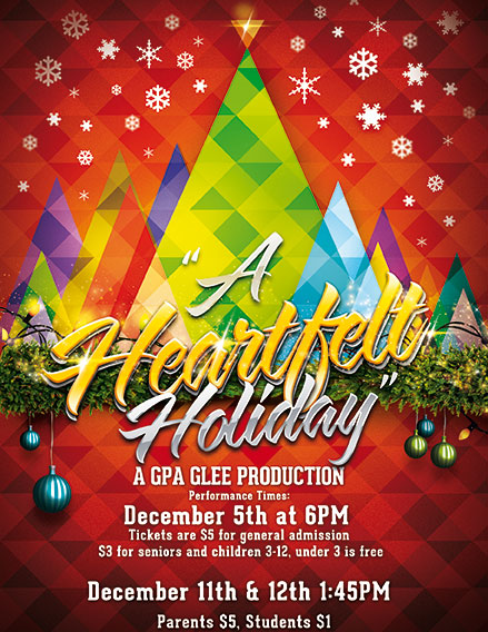 GPA Announces the 2013 GPA Glee Holiday Show!
