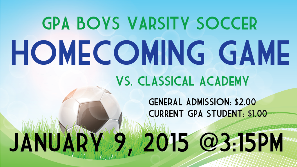 Boys Varsity Soccer vs Classical Announcement-01