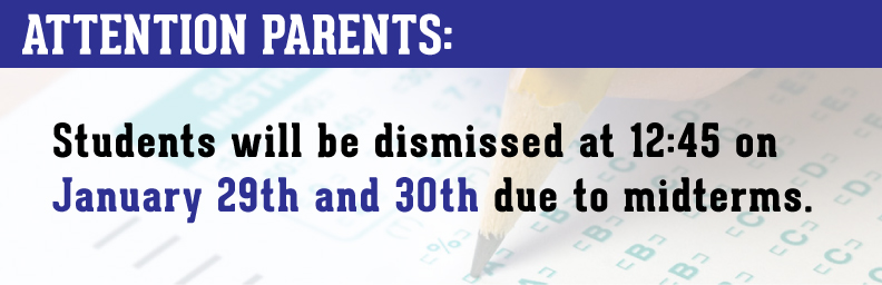 Early Dismissal Jan. 29 & 30th