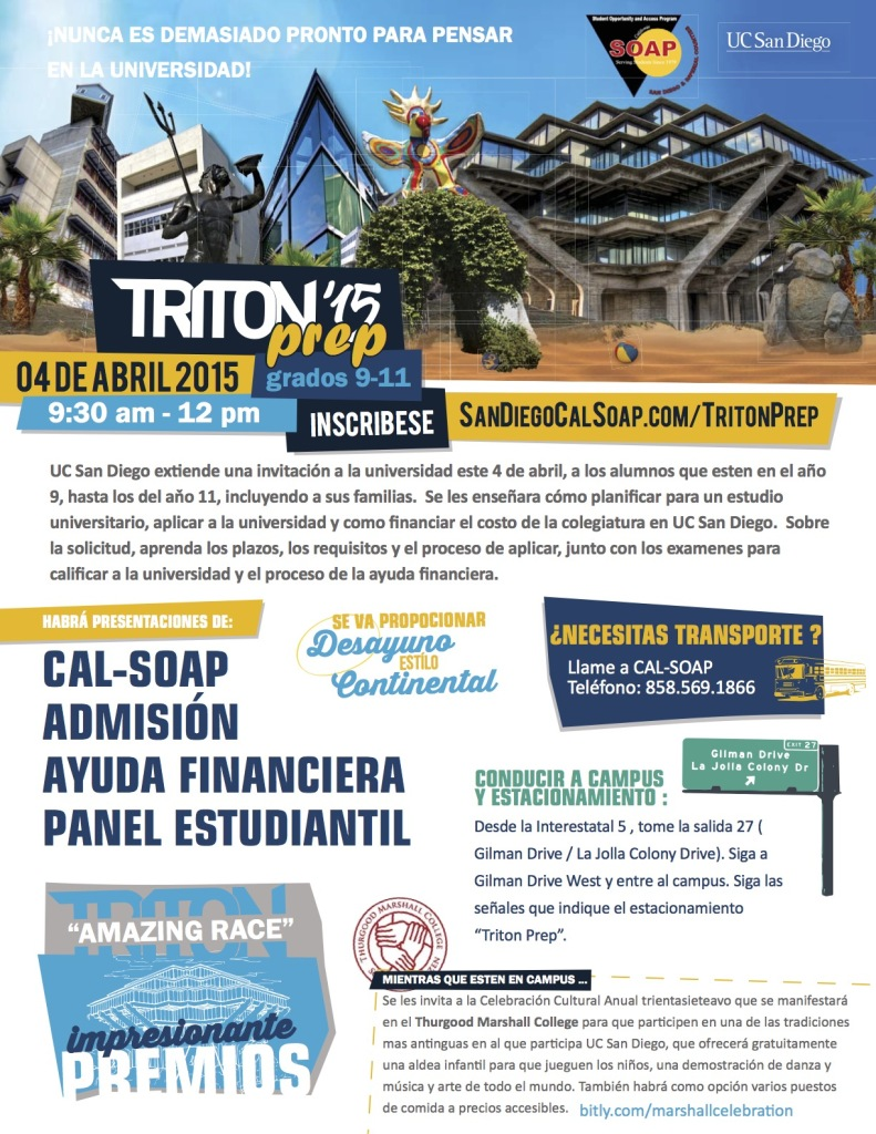 TritonPrep 2015 Flyer Spanish