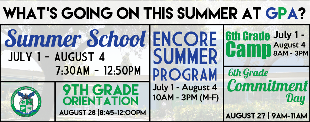 Summertime at GPA!