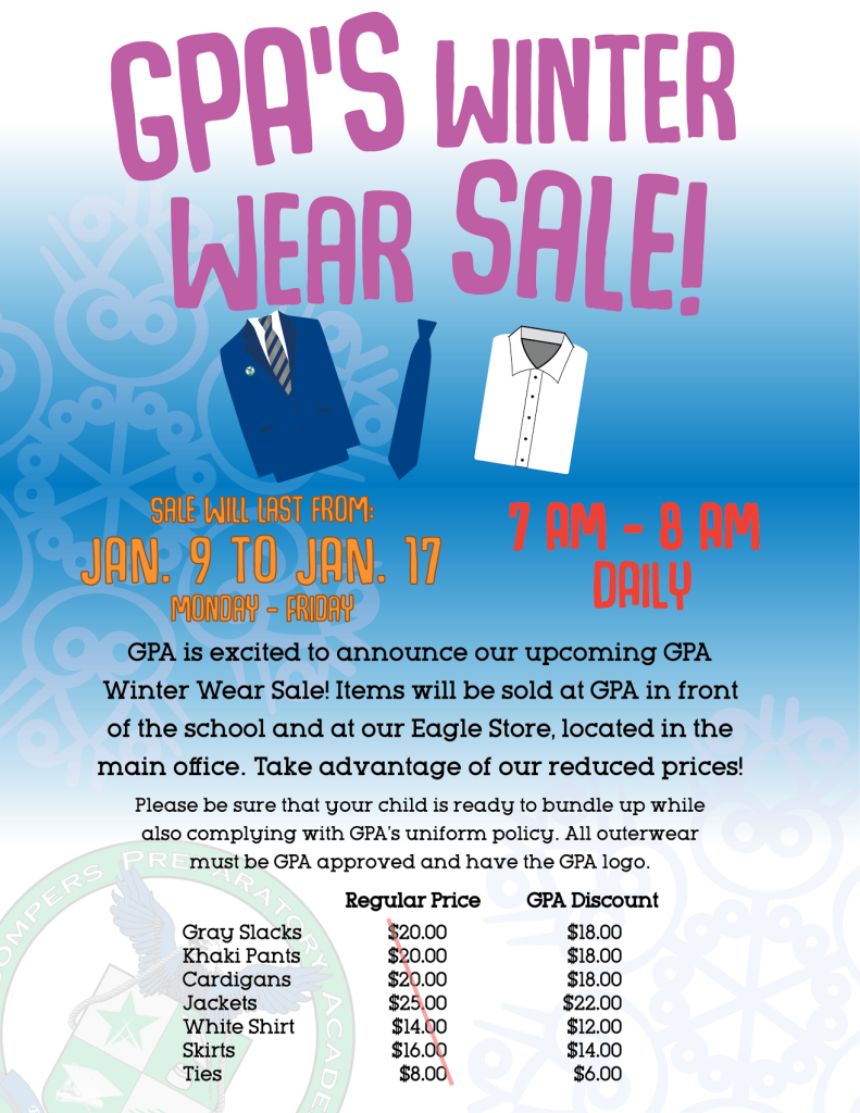 GPA's Winter Wear Sale Begins!