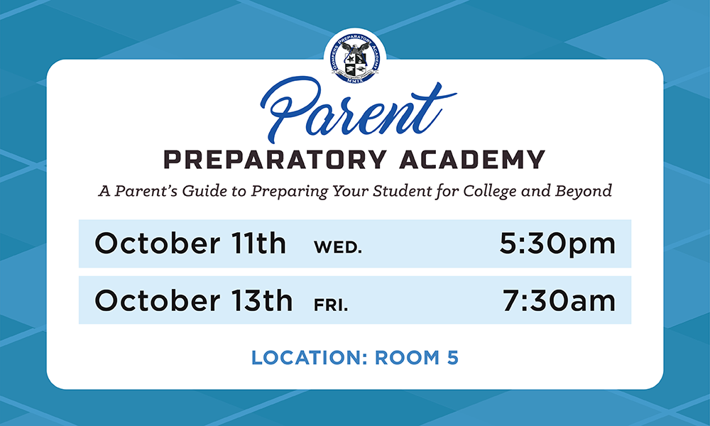 Parent Prep Academy for October