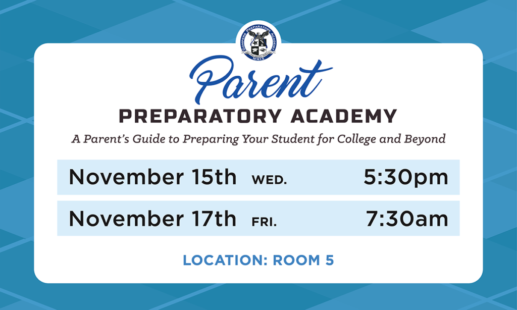 Parent Prep Academy for November