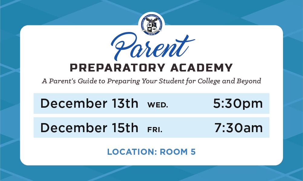 Parent Prep Academy for December