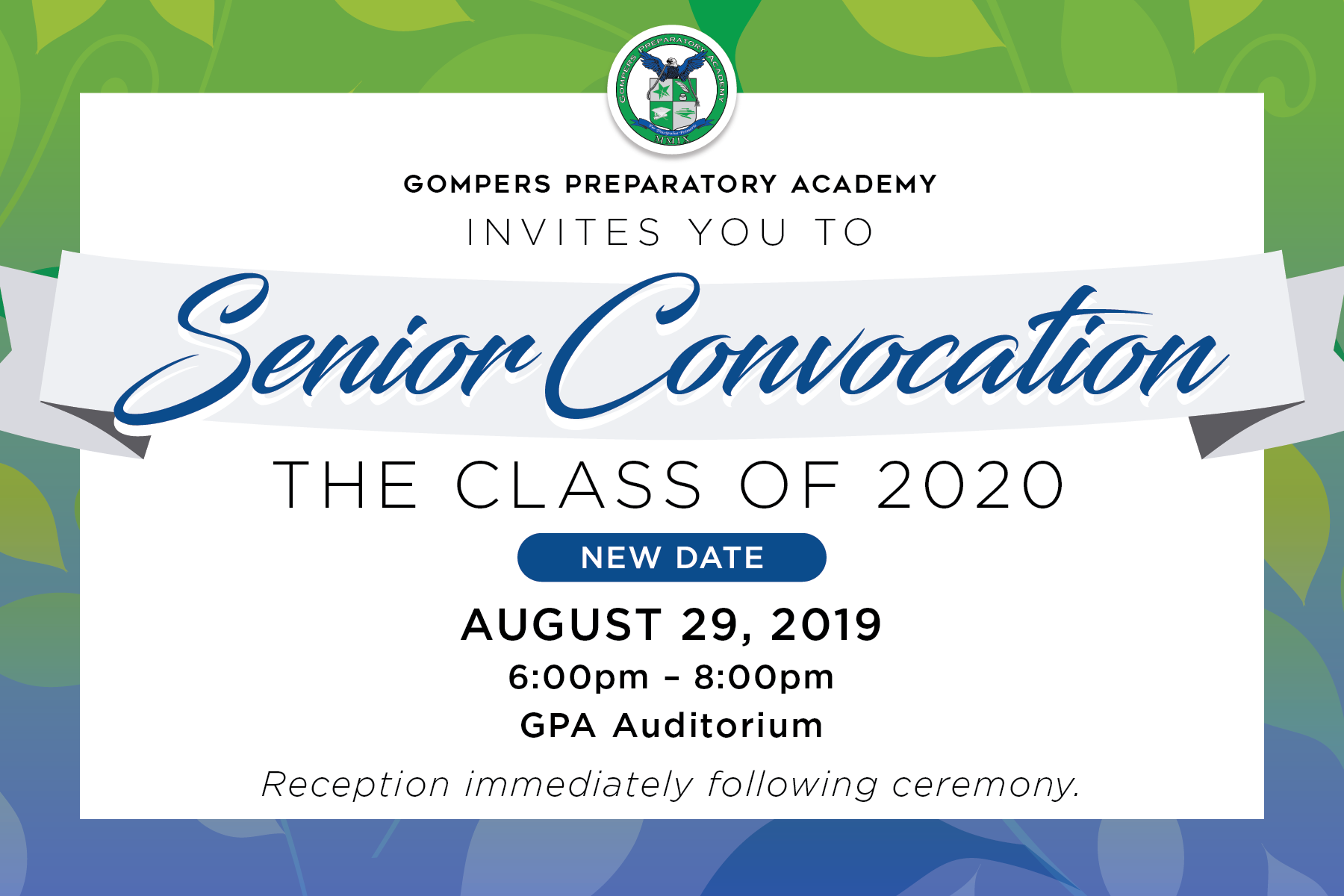 NEW DATE! Senior Convocation: The Class of 2020