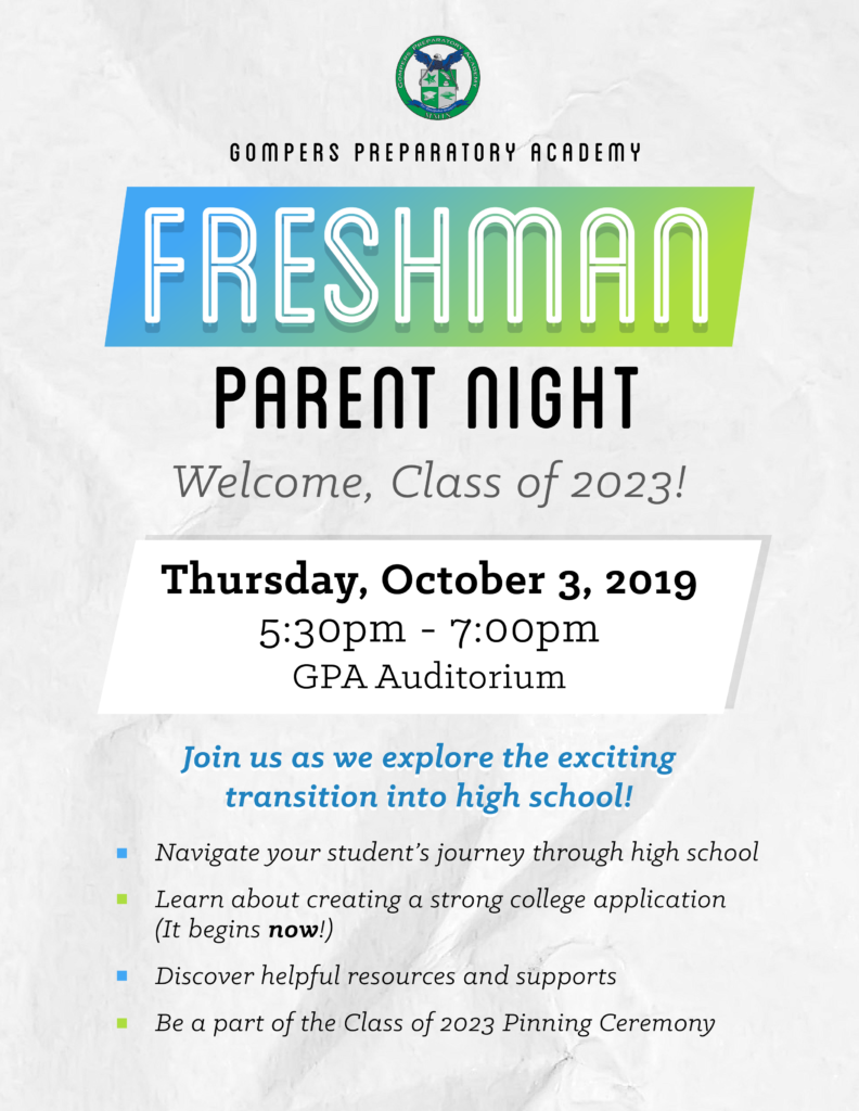Freshman Parent Night: Welcome, Class of 2023!