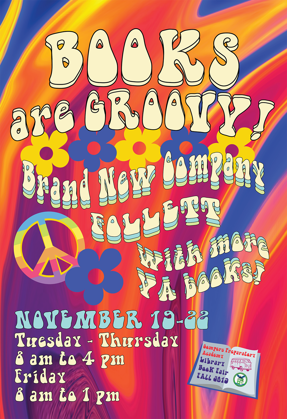 Books Are Groovy! Fall 2019 Book Fair