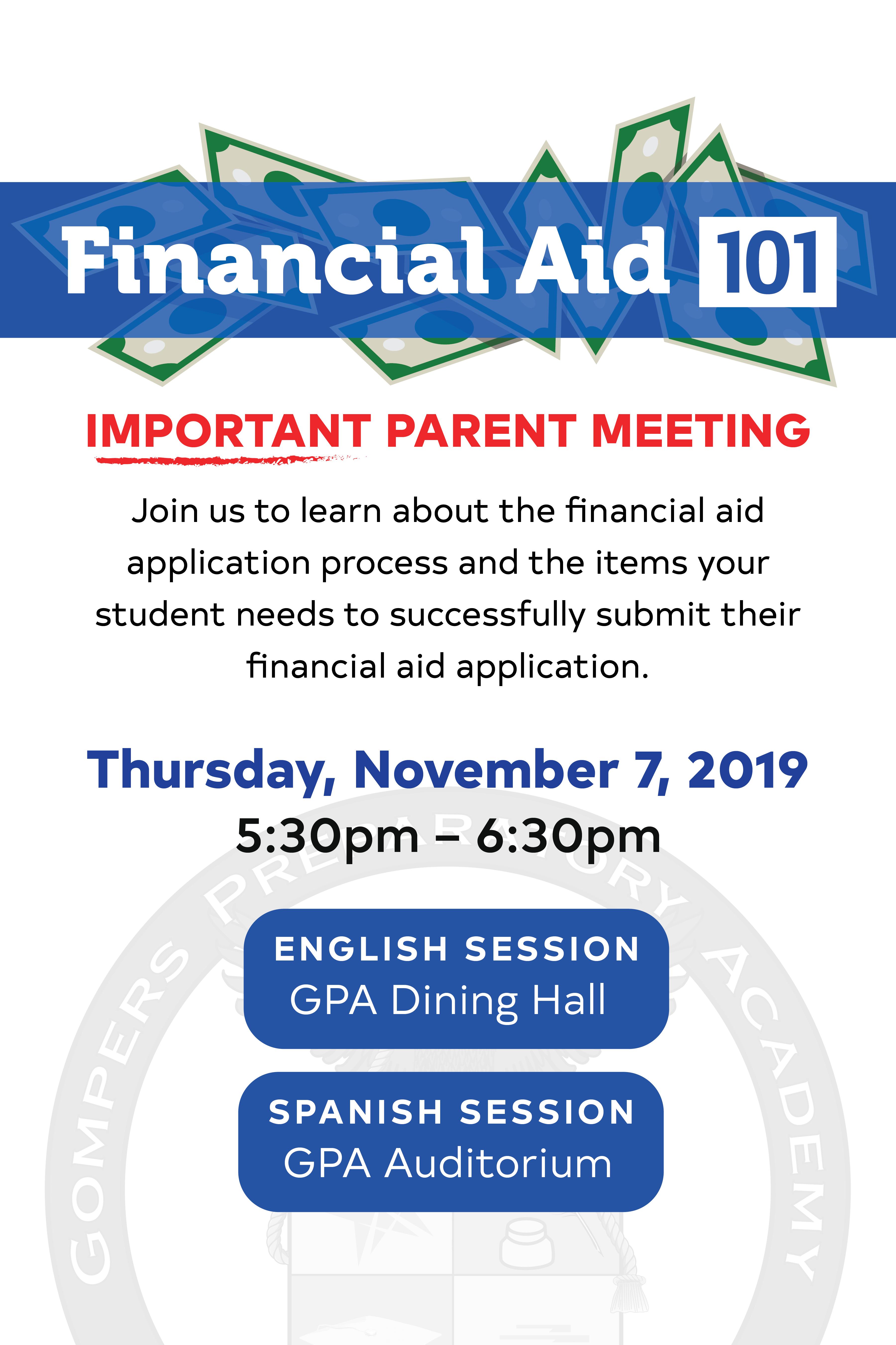 Senior Parent Workshop: Financial Aid 101