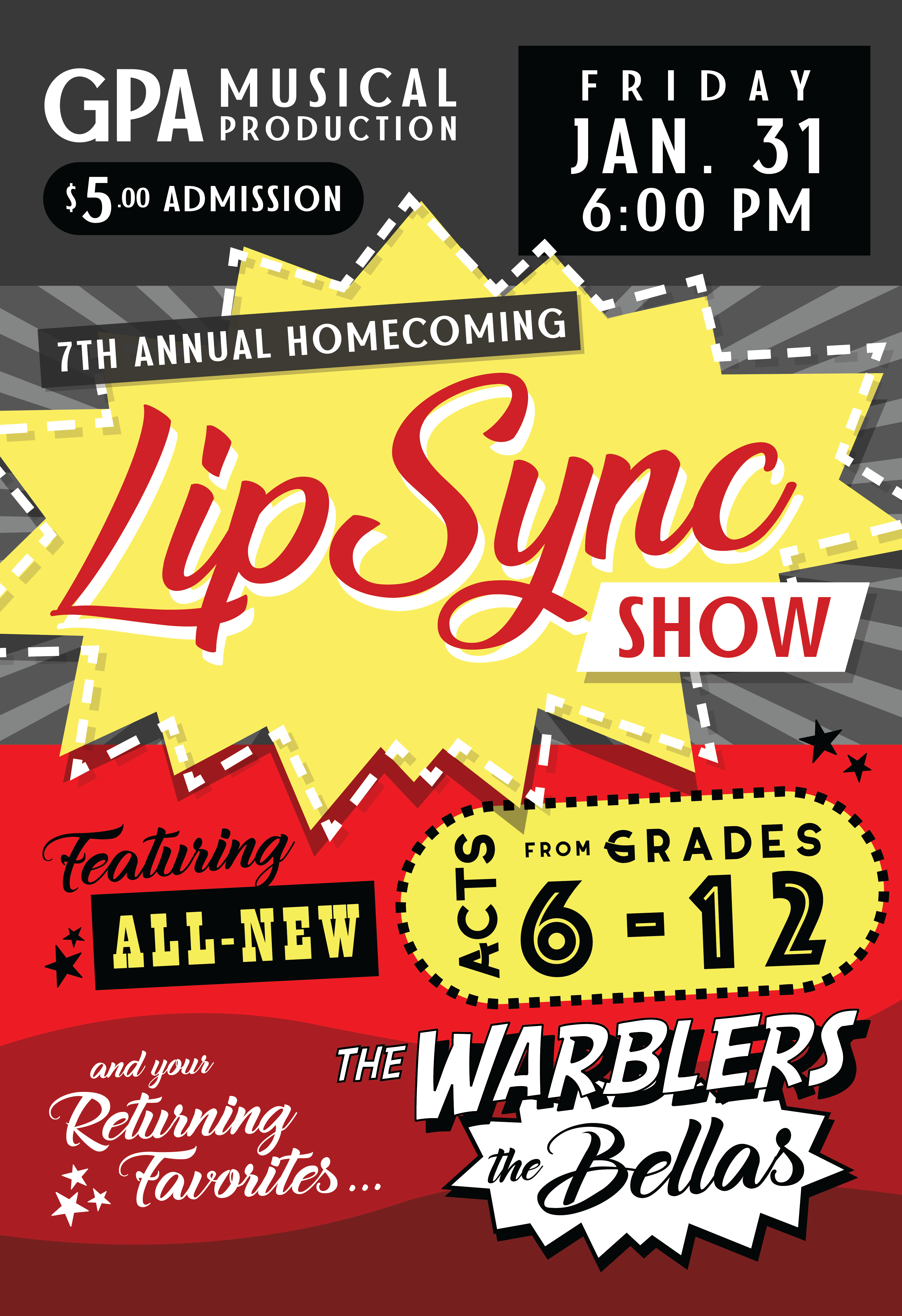 GPA Musical Production Presents 7th Annual Homecoming Lip Sync Show
