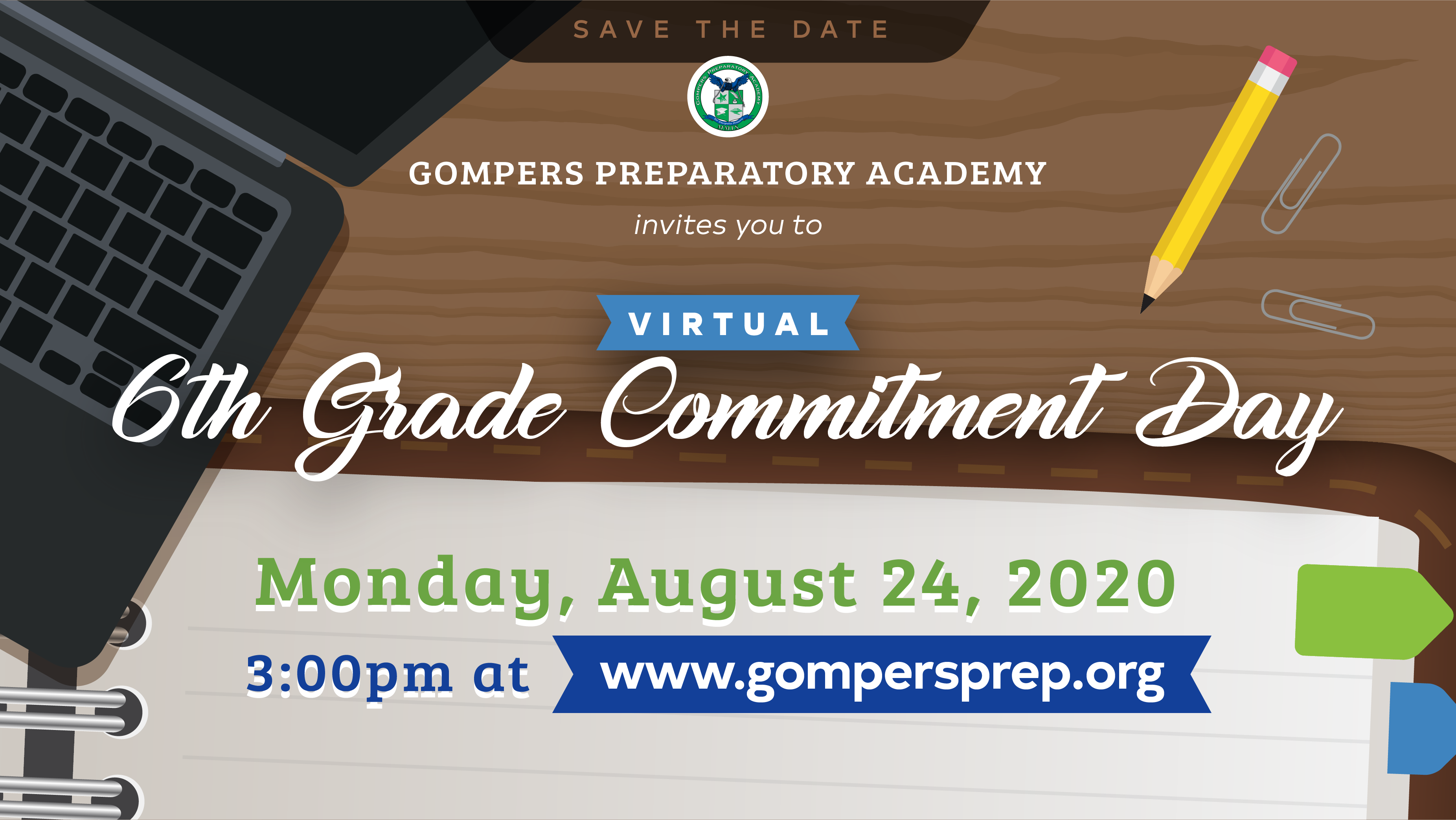 Save the Date: Virtual 6th Grade Commitment Day