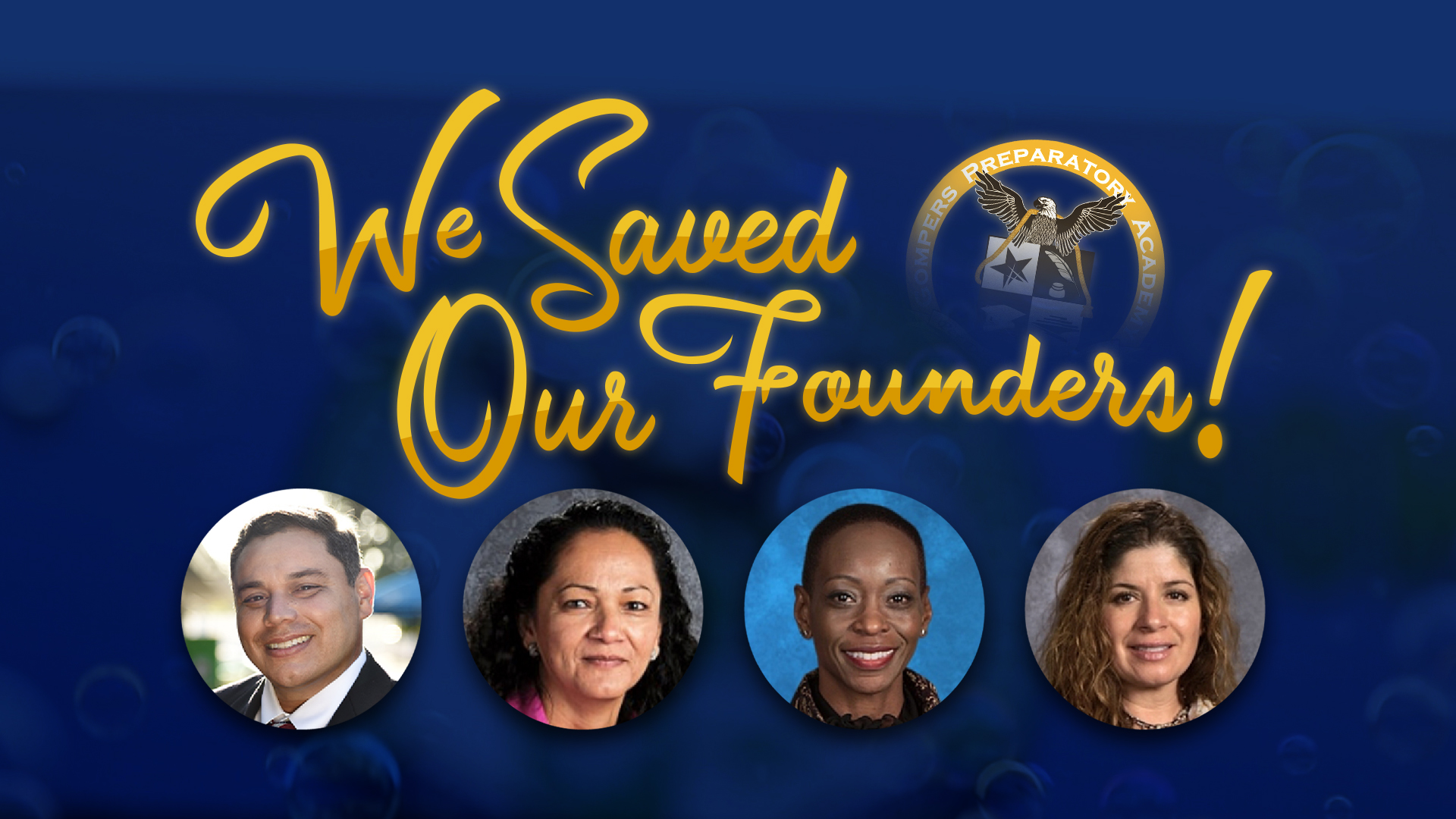 We Saved Our Founders!