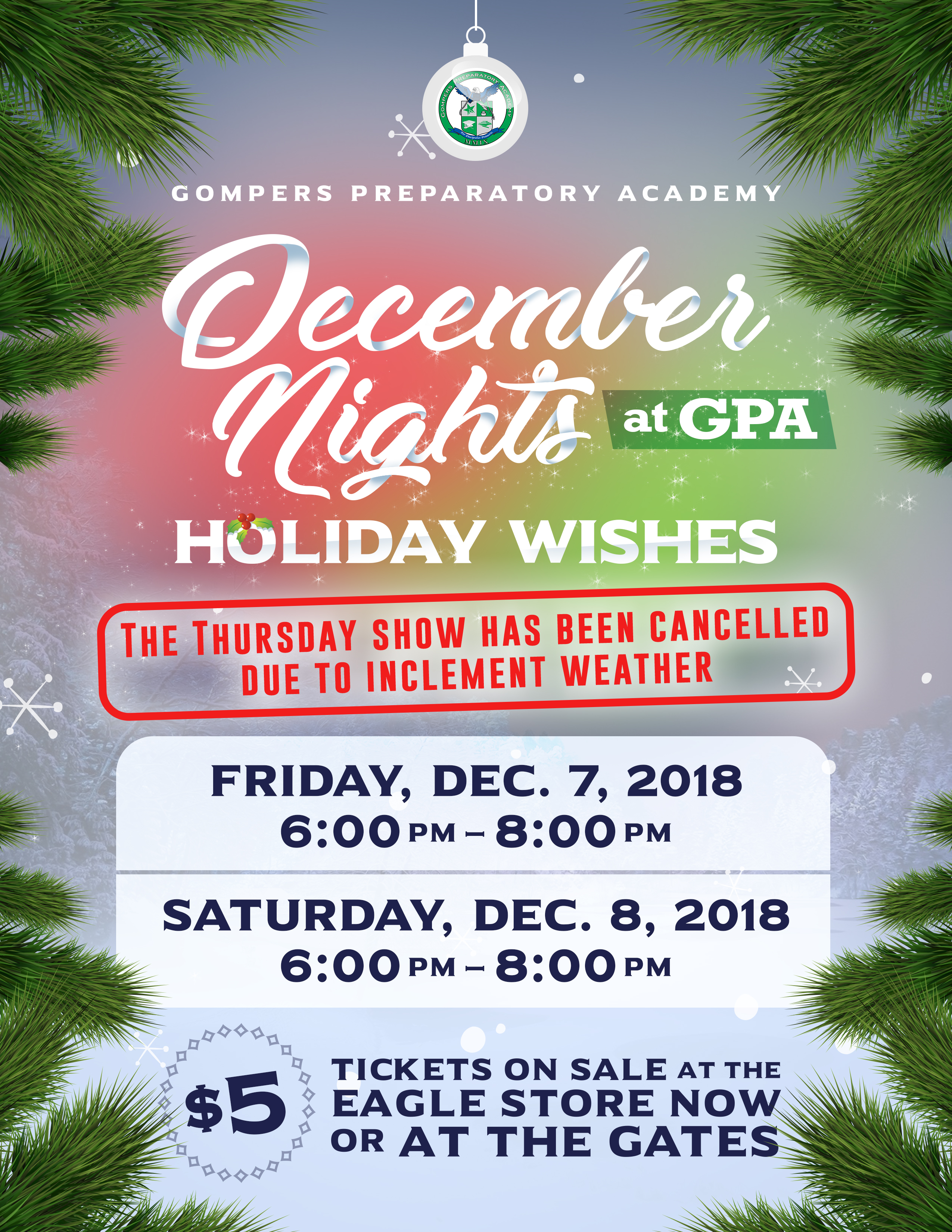 RESCHEDULED: December Nights at GPA: Holiday Wishes